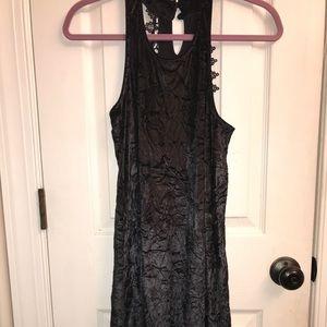 Black Altar'd State Floral Laced Velvet Dress